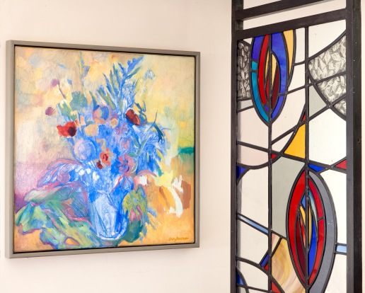 Painting and glass