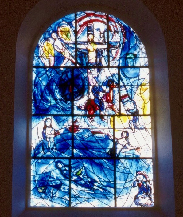 East window by Chagall at Tudeley Church, Kent.