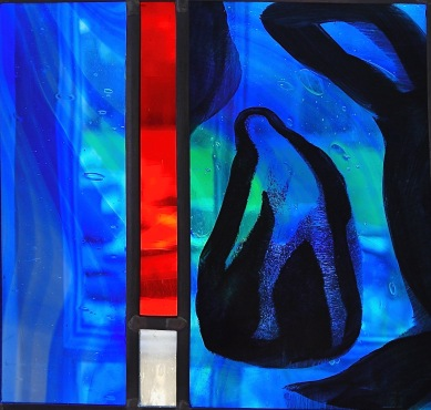 small blue figure